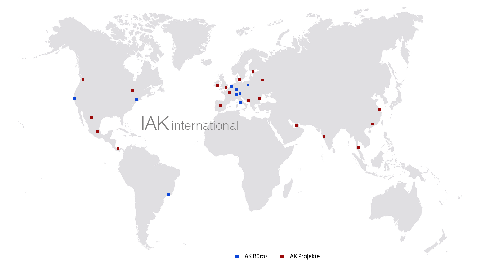IAK International Weltkarte